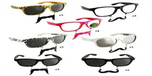 Sunglasses With Mustache Attached