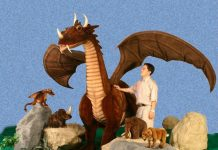 Hansa Plush Life Size Great Dragon