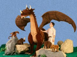 Hansa Plush Life Size Great Dragon