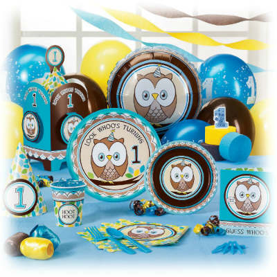 owl party supplies for boys