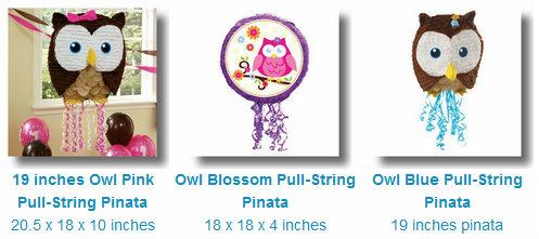 Owl Pinatas