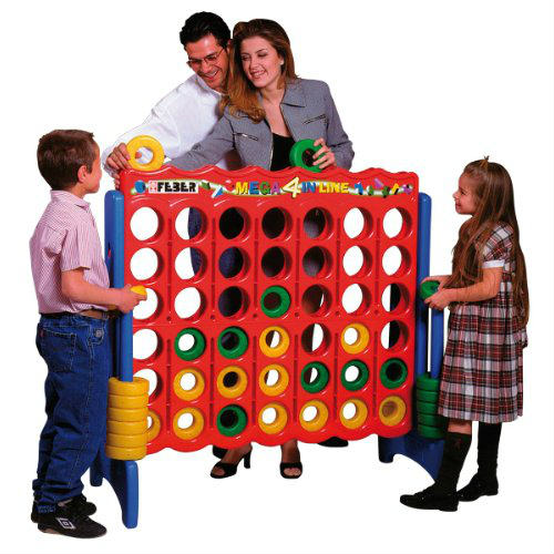 Buy ECR4Kids Mega 4 In Line Oversized Game