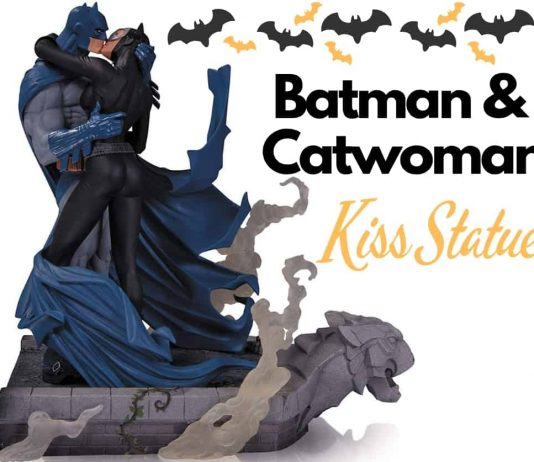 Batman and Catwoman Kiss Statue