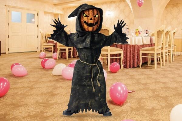 Pumpkin Head Scarecrow Costume