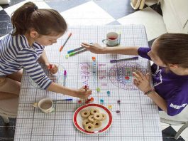 Doodle Tablecloth With Markers Included